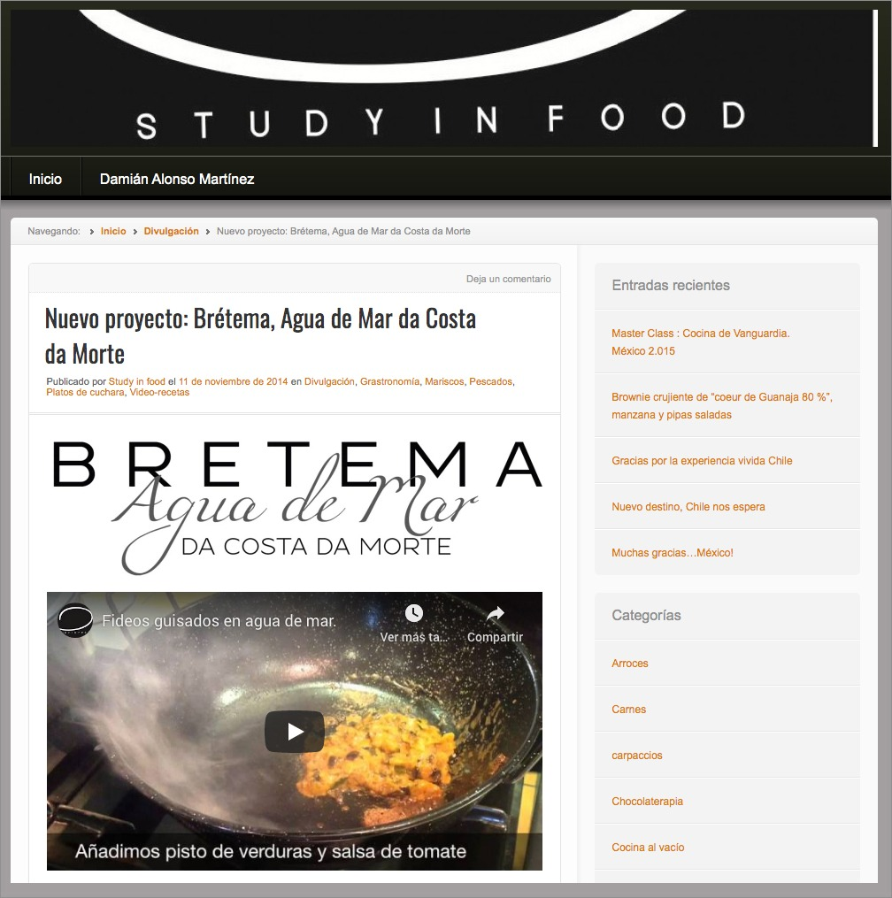 New project: Brétema Sea Water from the Costa da Morte
